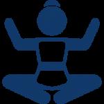 Capcare - femme en position lotus